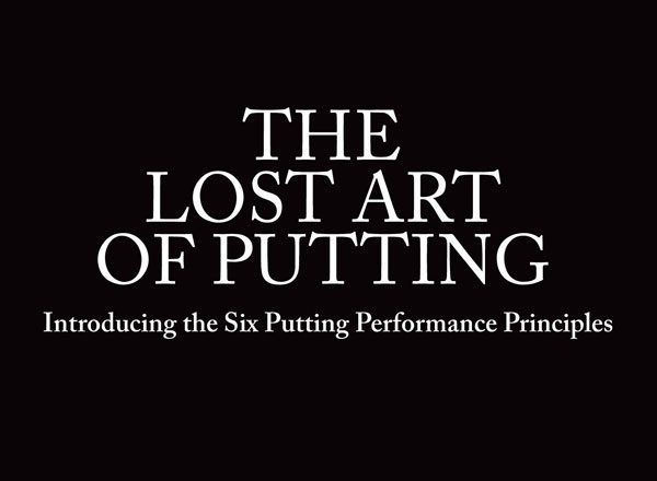 Book: The Lost Art of Putting