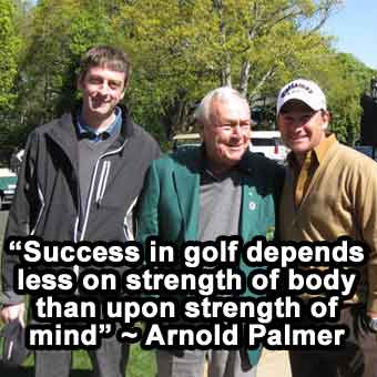 golf mental game quote from Arnold Palmer